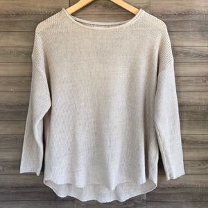 Sfera Sweaters - Sfera | Oatmeal Colored Pullover Sweater L